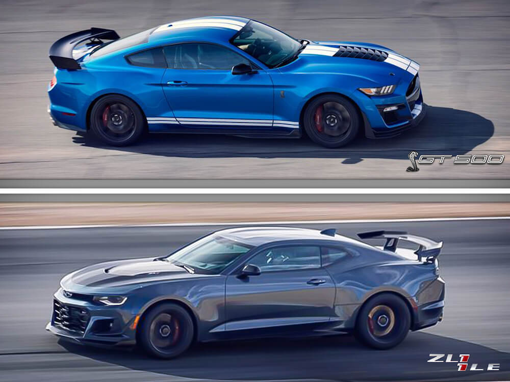 Shelby GT500 vs ZL1 1LE Rollers