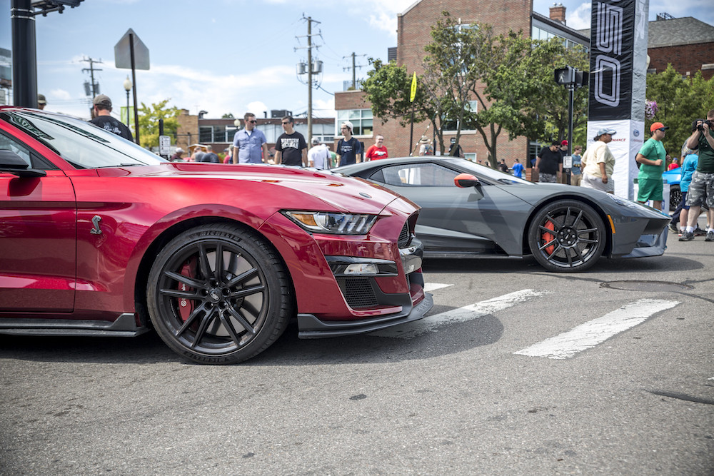Shelby GT500 Rapid Red with Ford GT
