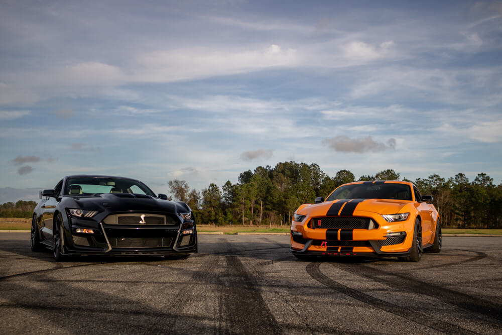 Shelby GT500 and Shelby GT350R Front