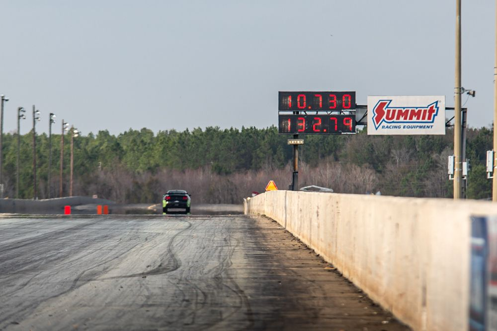 Shelby GT500 Drag Race Time