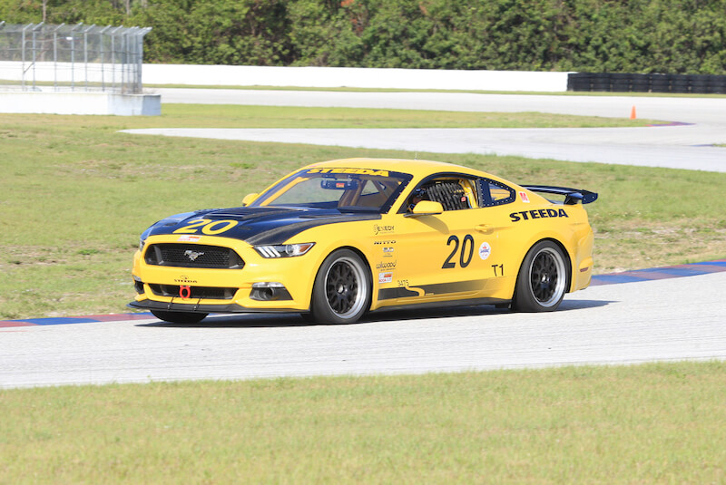Mustang Race Car On Track