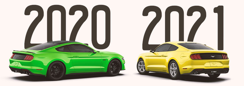 2020 and 2021 Mustang