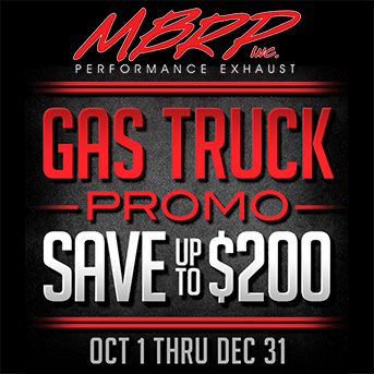 MBRP Performance Exhaust - Save up To $200 on Select Gas Truck Exhausts