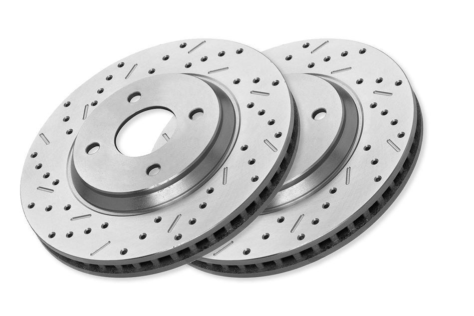 Xtreme Stop Focus Front Pair Drilled & Slotted Rotors (04-07 All)