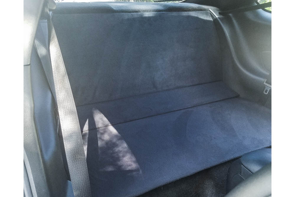 cm components  ford mustang rear seat delete