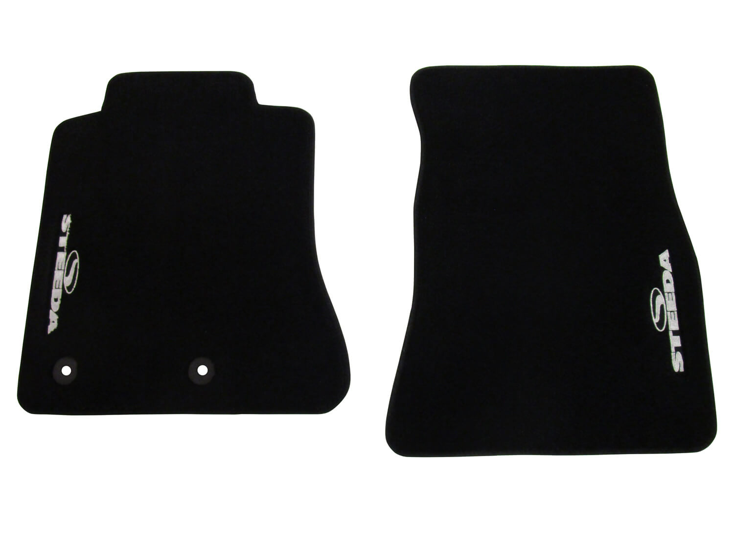 Floor Mats; Accessories; Steeda carries a wide-range of accessories for your Mustang using only the highest quality materials. From Mustang gauges, floor mats and tool kits to seats, brackets and lights, we offer these items as a convenience to our customers.