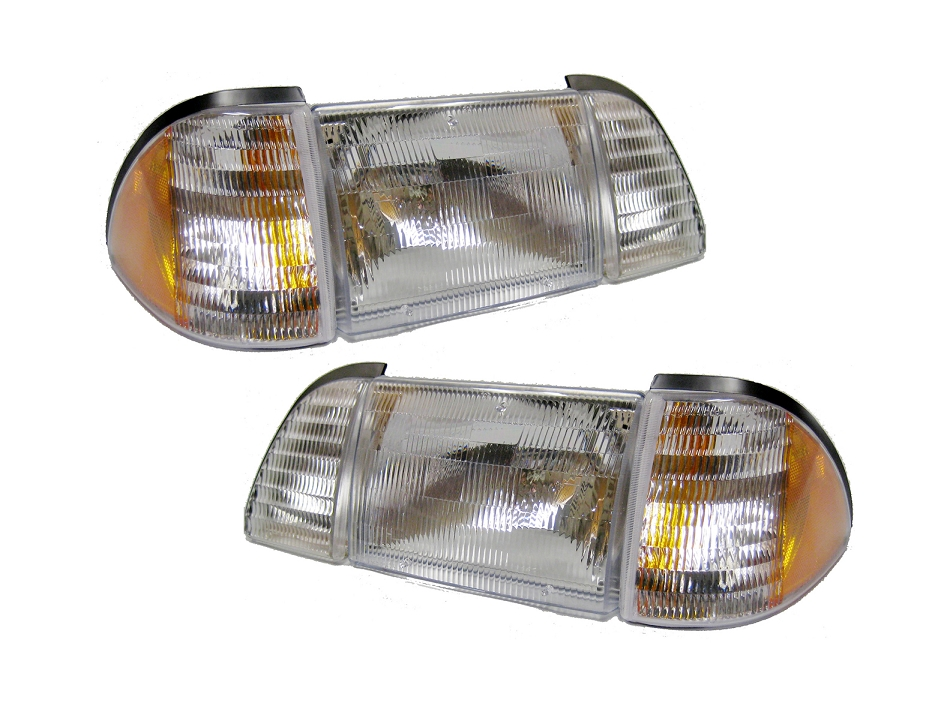 Fox Body Mustang OEM Style Headlights - Amber (87-93)