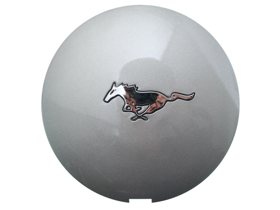 Scott Drake Mustang Wheel Center Cap Argent Silver With Chrome Running Horse Logo (90-93)