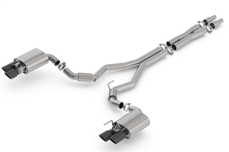 Borla Mustang GT S-Type Cat-Back Exhaust - Black Chrome Tips (2018-2021)