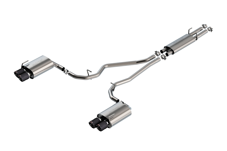 Borla Explorer ST S-Type Cat-Back Exhaust - Carbon Fiber Tips (2020)