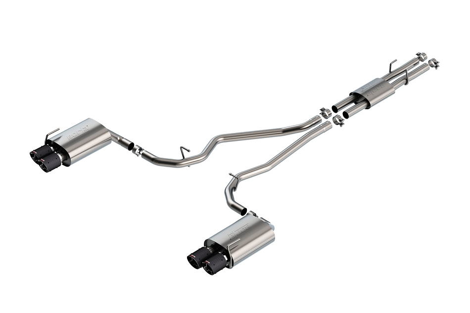 Borla Explorer ST ATAK Cat-Back Exhaust - Carbon Fiber Tips (2020)