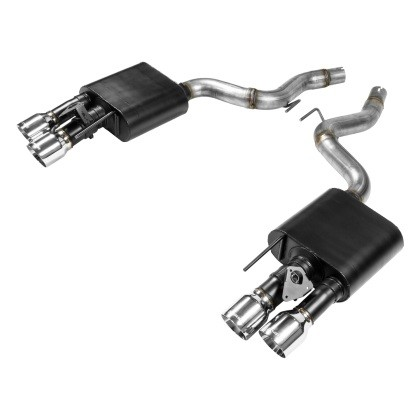 Flowmaster Mustang GT American Thunder Axle-Back Exhaust System Quad Tips w/ Active Exhaust (2018-2020)