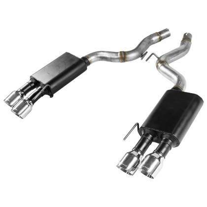 Flowmaster Ford Mustang GT 5.0L 409S SS American Thunder Axle-Back Exhaust System w/ Quad Tips (2018-2020)