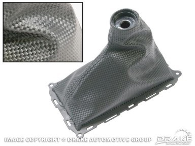Scott Drake Mustang Shift Boot Carbon Fiber Look (10-14 V6/GT)