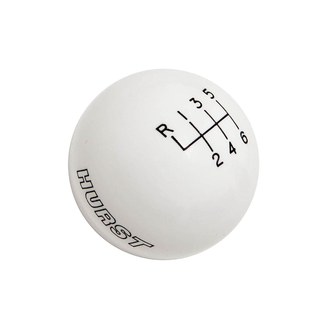 Hurst Mustang 6-Speed Shift Knob - White (2015-2021)
