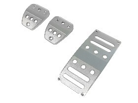 Drake Mustang Pedal Cover Billet Set Manual Transmission (2005-2021)