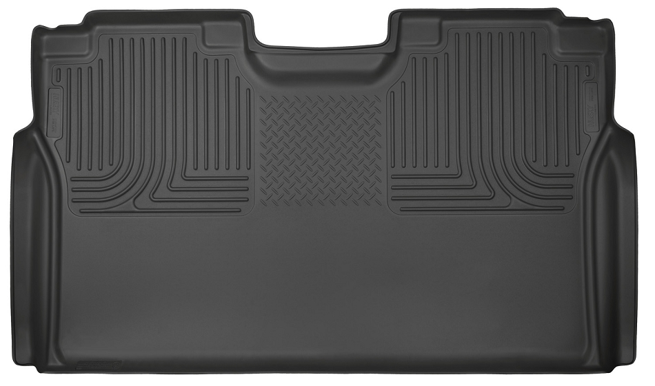 Husky Liners WeatherBeater Black SuperCrew 2nd Seat Floor Liner (F-150 / F-250 / F-350 / F-450)