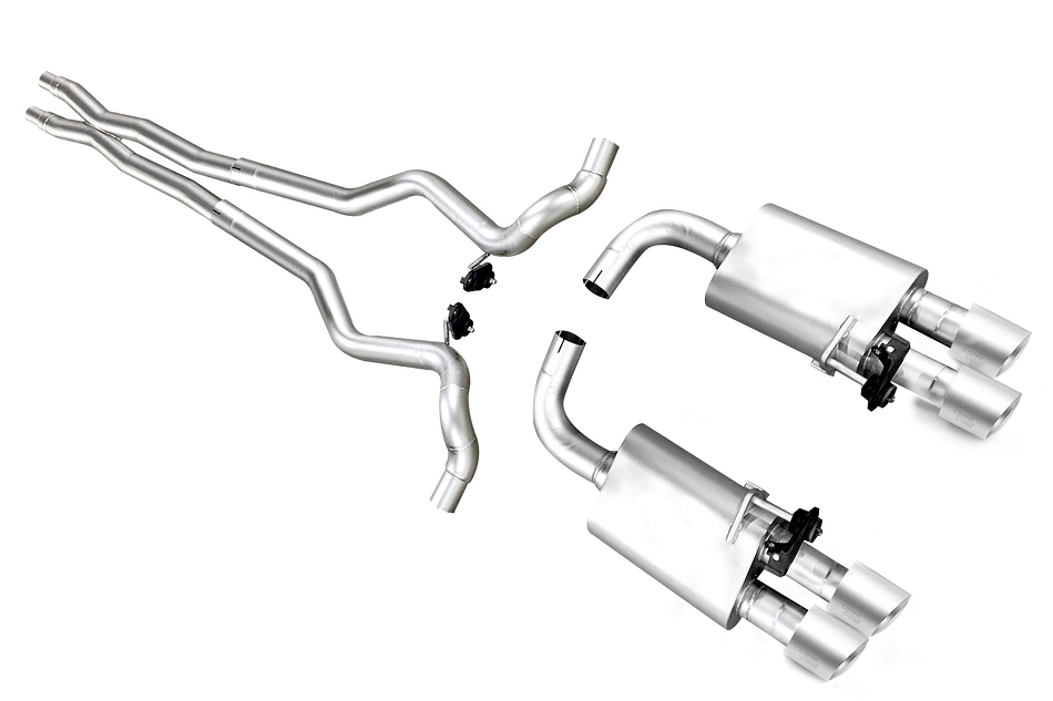 LTH Mustang GT Full Cat-Back Exhaust Titan Tips (2018-2020)