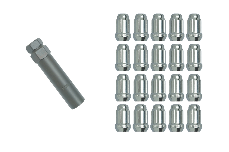 Gorilla Mustang Small Diameter Lug Nut Kit - Chrome (1979-2014)