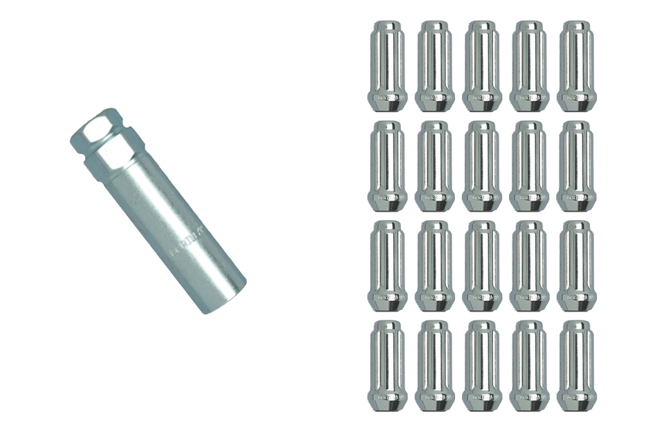 Gorilla Mustang Duplex Small Diameter Lug Nut Kit - Chrome (2015-2020)