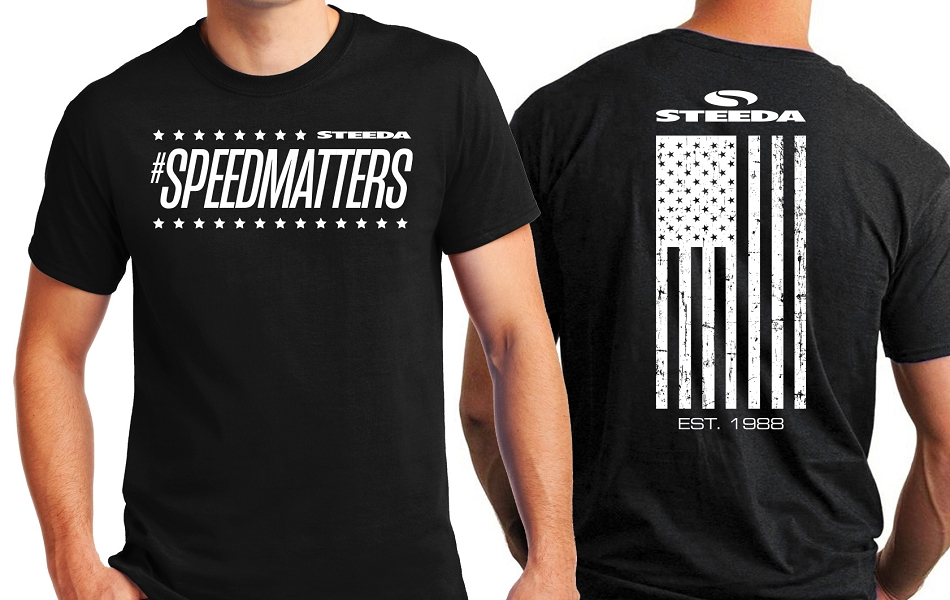 Steeda Stars & Stripes Speed Matters Black T-Shirt