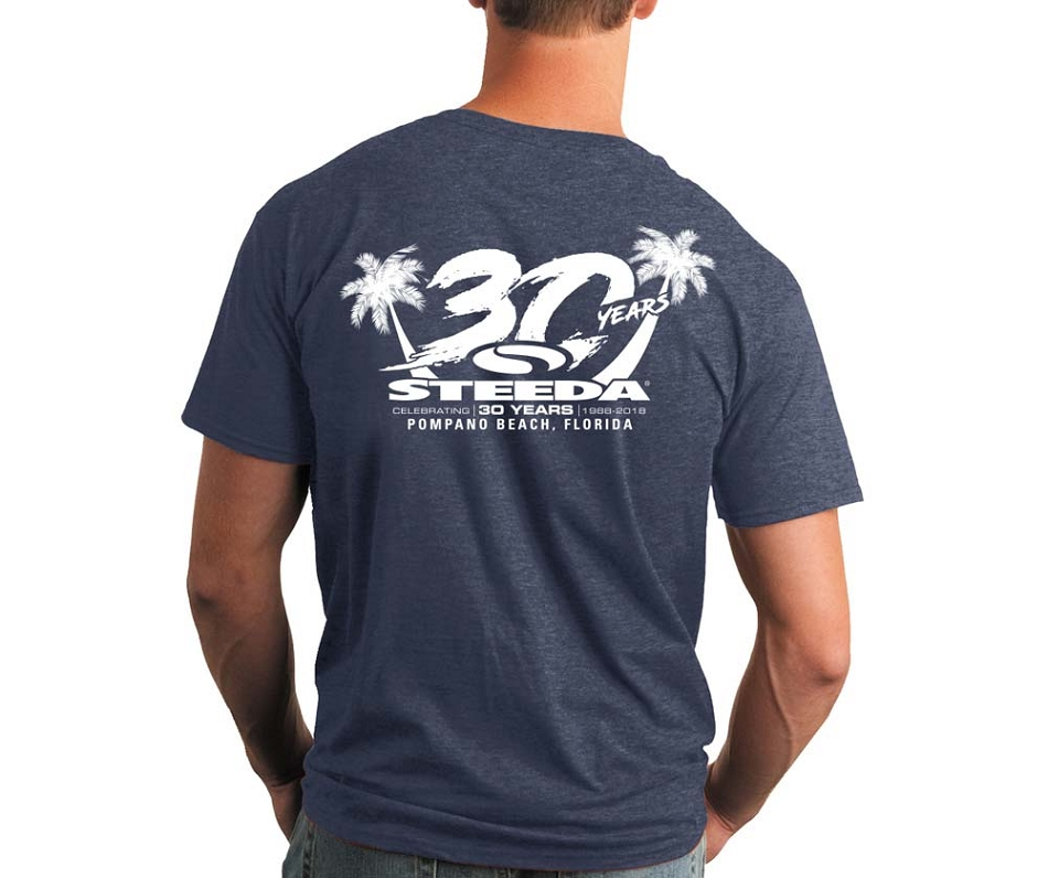 Steeda 30th Anniversary T-Shirt, Heather Blue