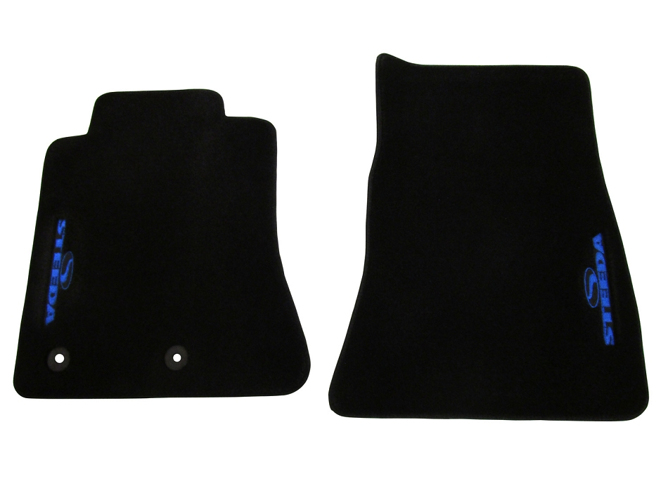 Steeda S550 Mustang Floor Mat Set - Blue (15-17 All)