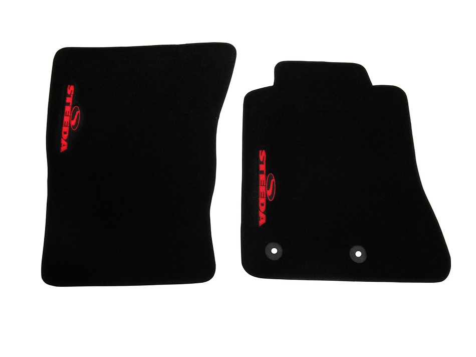 Steeda S550 Mustang Floor Mat Set - Red (15-17 All)