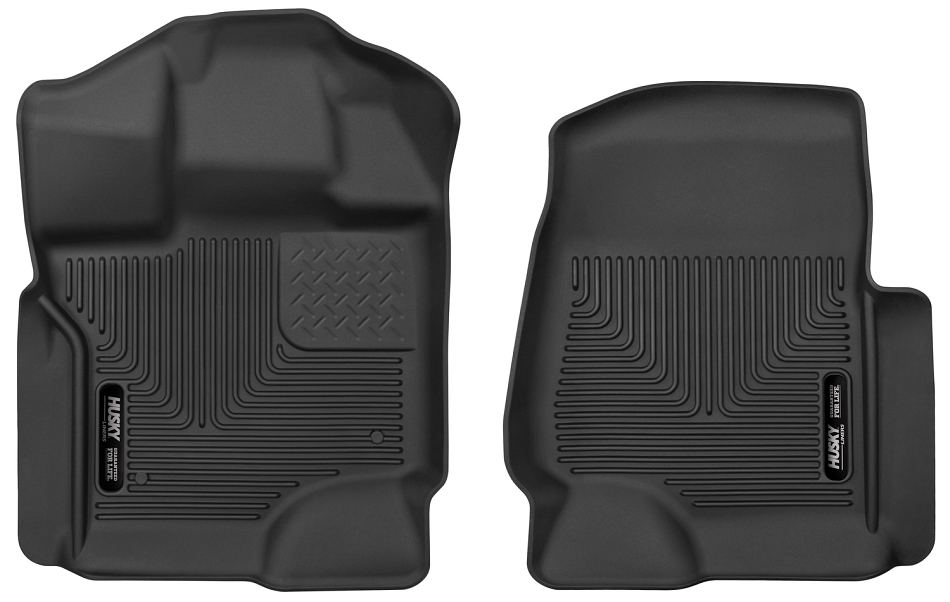 Husky Liners F-150 X-Act Contour Black Front Seat Floor Liners (15-17 SuperCrew Cab / SuperCab)