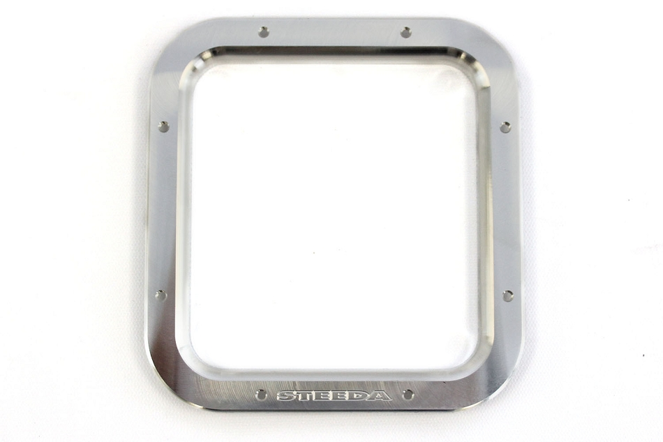 Steeda Mustang Shifter Bezel - Machined/Steeda Logo (1987-1993)