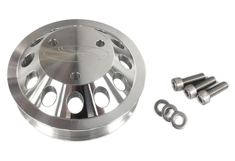 Steeda Mustang Billet 3 Bolt Water Pump Pulley (13-17 GT)