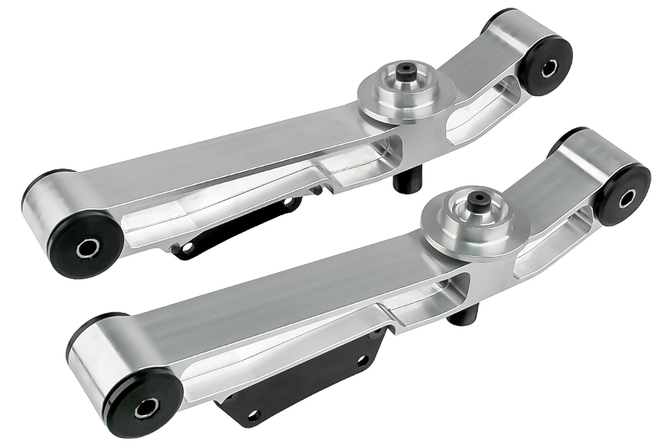 Steeda Weight Jacker Adjustable Mustang Billet Lower Control Arms - Poly Ends (1979-1998)