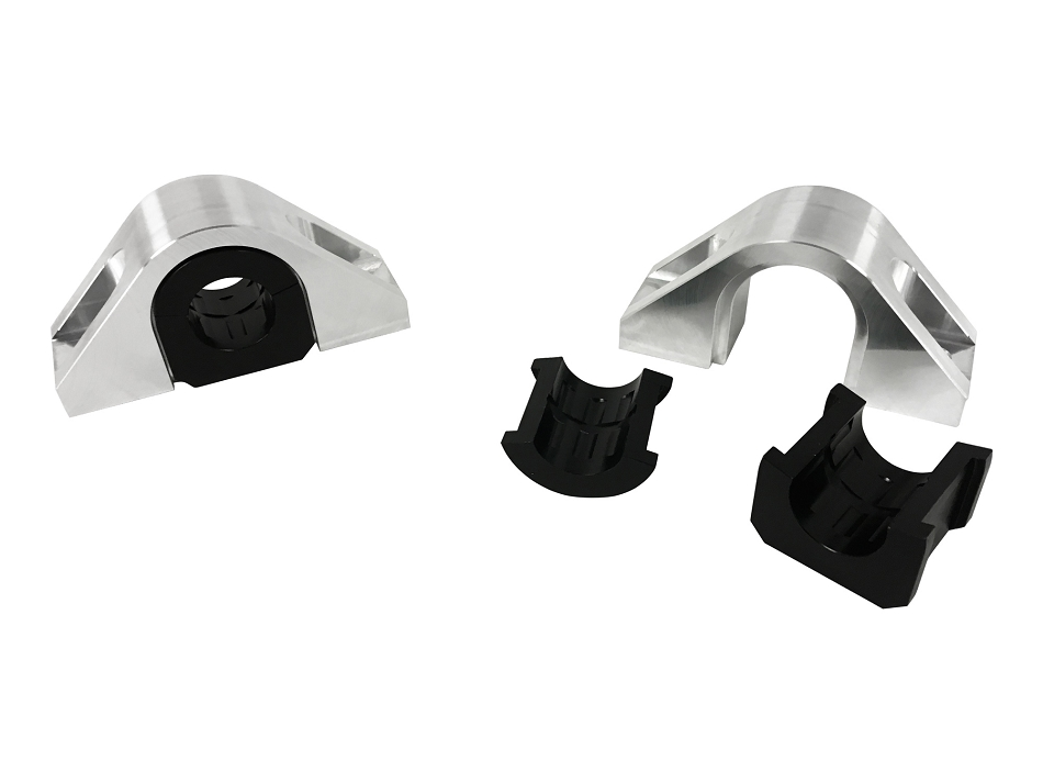 Steeda S550 Billet Rear Swaybar Mount Kit With Delrin Bushings (15-17 All)