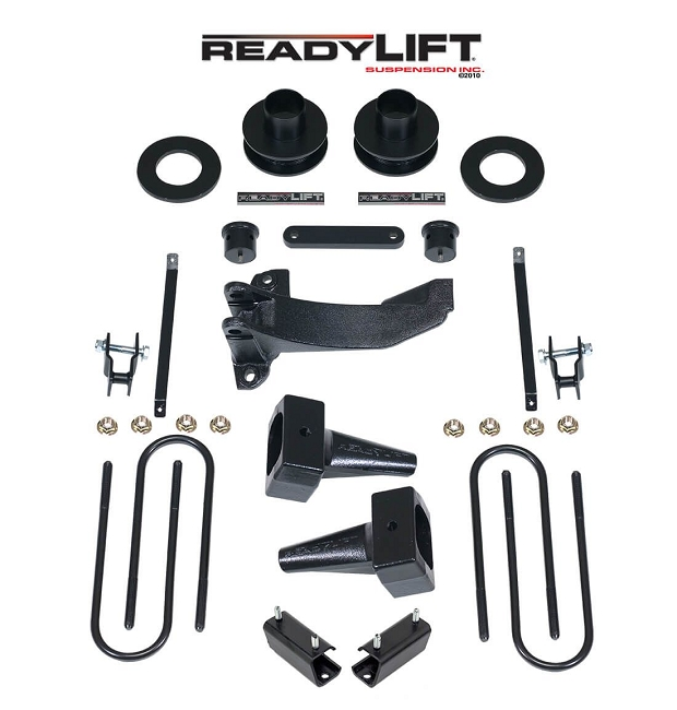 ReadyLIFT F-250/F-350 4wd Super Duty 2.5'' SST Lift Kit w/ 4'' Rear Blocks 2-Piece Drive Shaft (2011-2016)