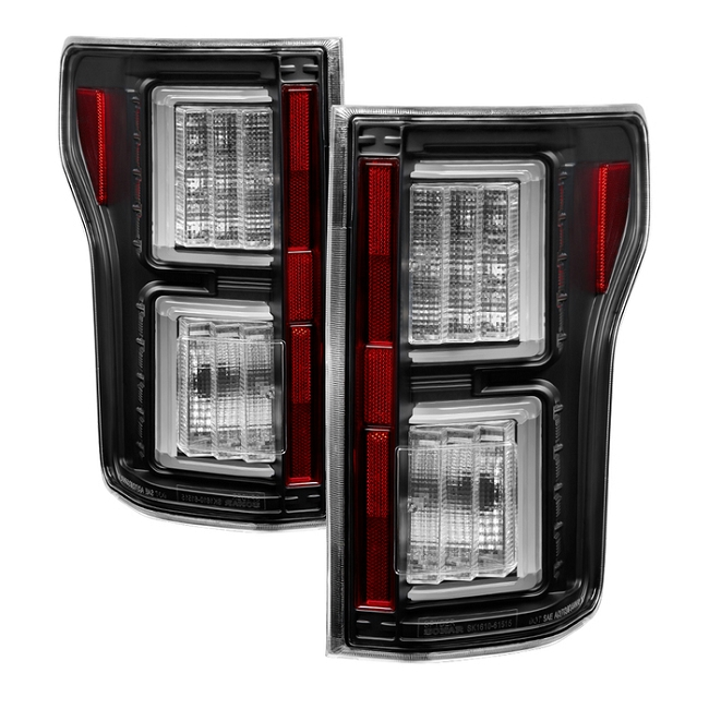Spyder F150 2015-2017 Light Bar LED Tail Lights - Black (not compatible with rear blind spot censor models)
