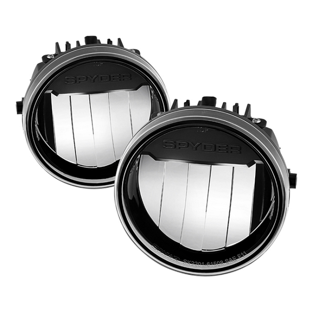 Spyder F150 09-14 LED Fog Lights Black