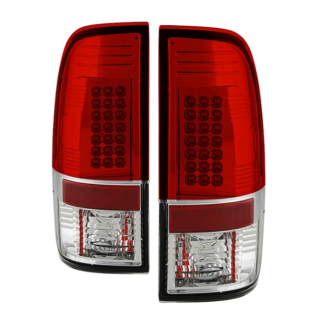 Spyder  Super Duty F-250/ F-350 08-16 LED Tail Lights - Red Clear