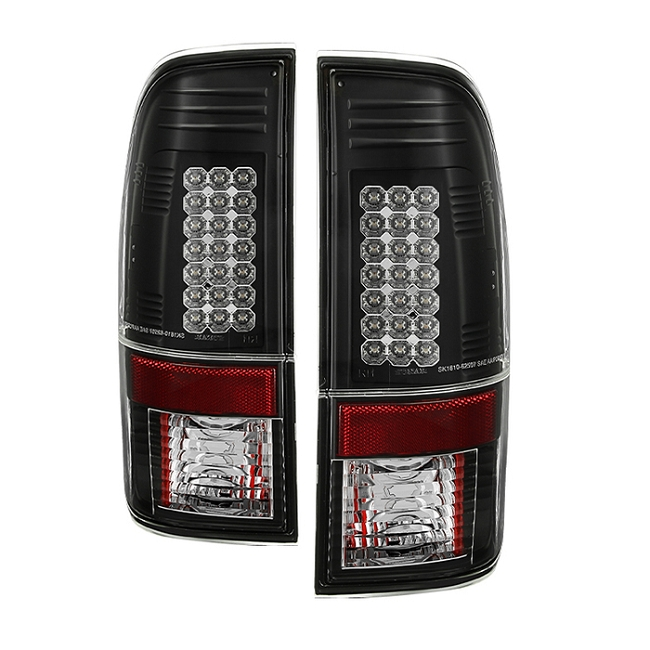 Spyder Super Duty F-250/ F-350 08-16 LED Tail Lights - Black