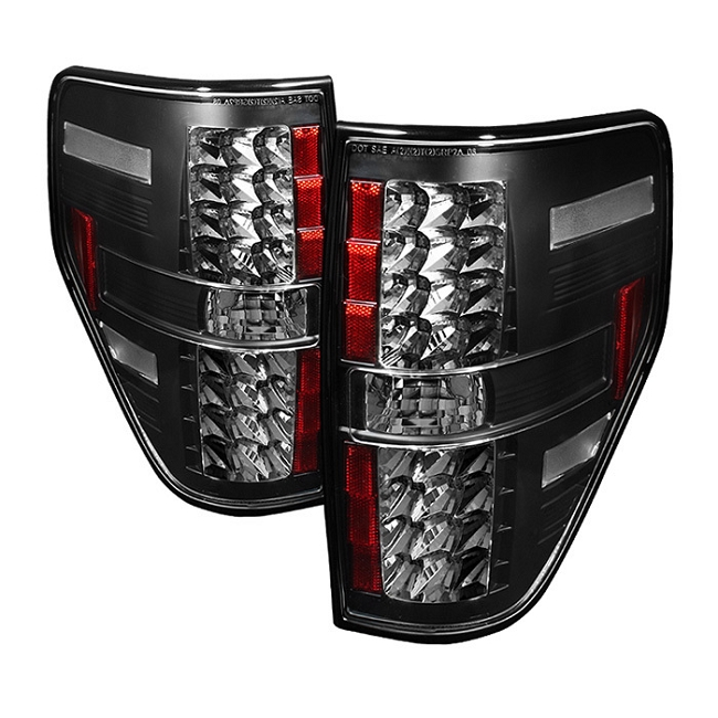 Spyder F-150 LED Tail Lights - Black(2009-2014)