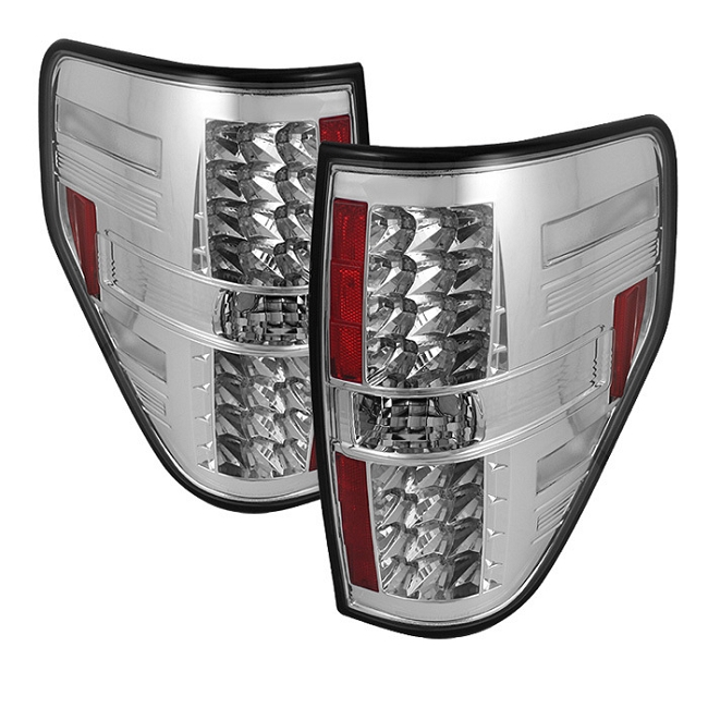 Spyder F-150 LED Tail Lights - Chrome(2009-2014)