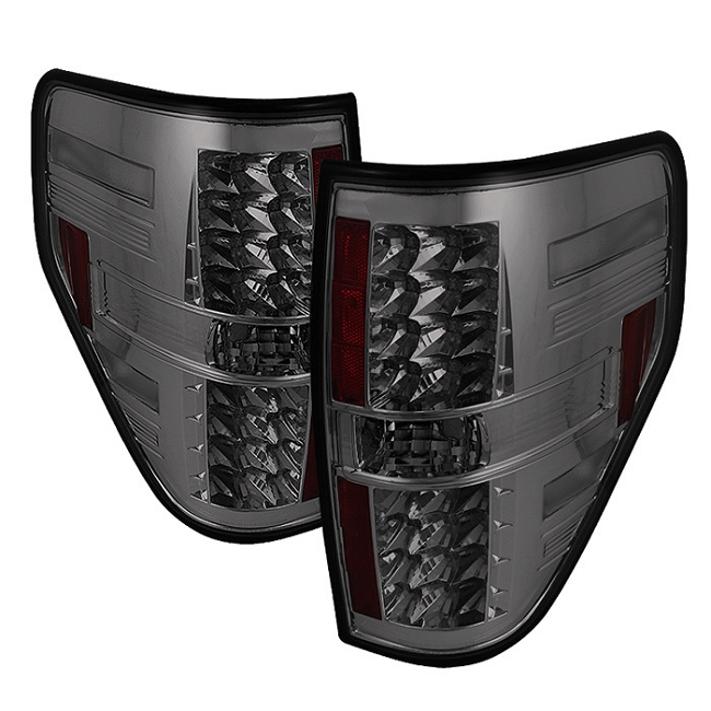 Spyder F-150 LED Tail Lights - Smoke(2009-2014)