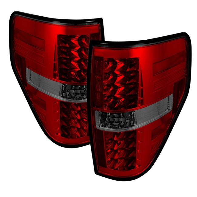 Spyder F-150 LED Tail Lights - Red Smoke(2009-2014)