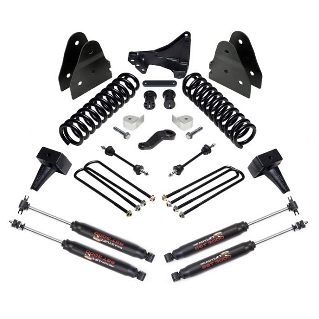 ReadyLift Suspension 2017 F250 / F350 4WD 6.5in Lift Kit with SST3000 Shocks 2 Piece Drive Shaft
