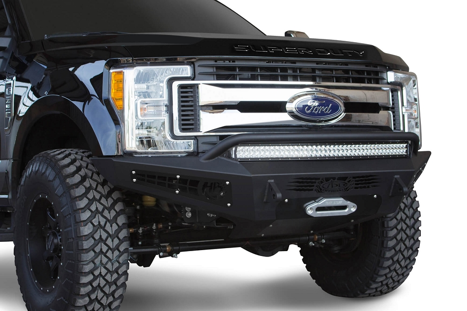 Addictive Desert DesignsF-250 / F-350 Honey Badger Winch Mount Front Bumper (2017-2019)