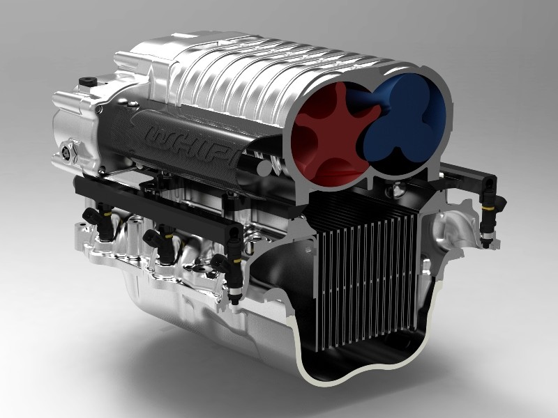 Whipple F150 5.0L 2.9L Supercharger 9 PSI Kit w/ Intercooler Black Finish (2011-2014)