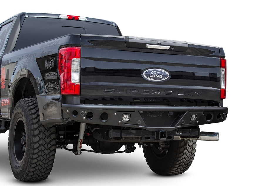 Addictive Desert Designs Super Duty Stealth Rear Bumper w/ Backup Sensor Cutouts (2017-2019)