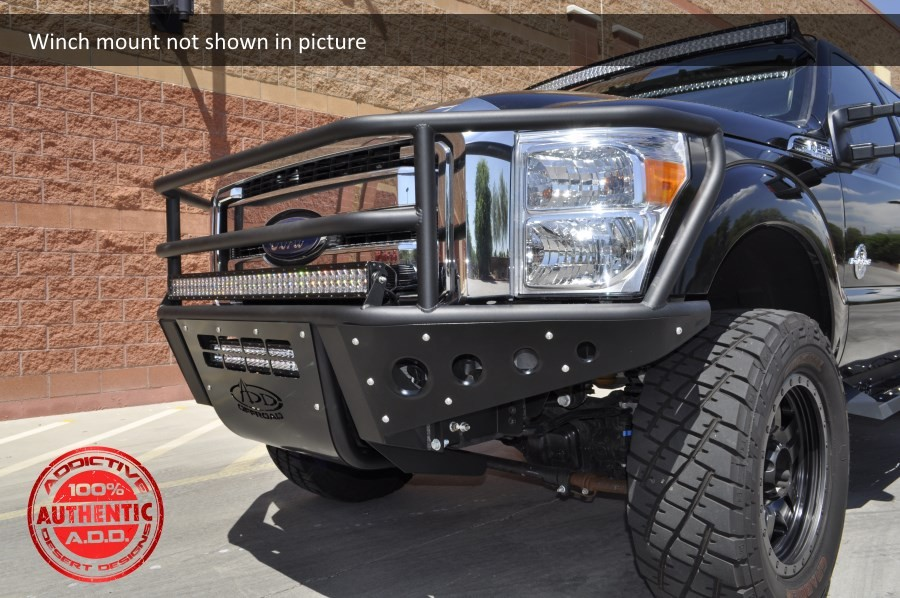 Addictive Desert Designs F-250 / F-350 Rancher Winch Mount Front Bumper (2011-2016)