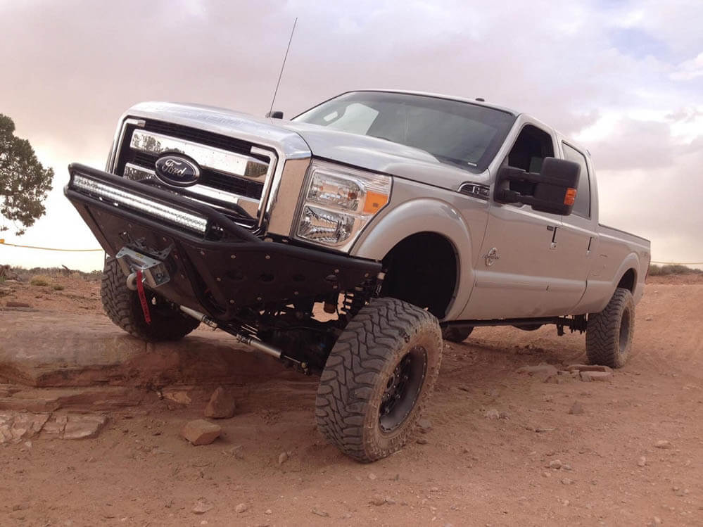 Addictive Desert Designs F-250 / F-350 Winch Mount Stealth Front Bumper (2011-2016)
