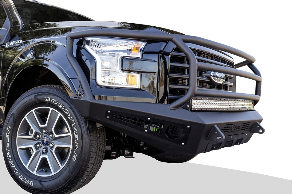 Addictive Desert Designs F-150 EcoBoost Honey Badger Rancher Front Bumper (2015-2017)