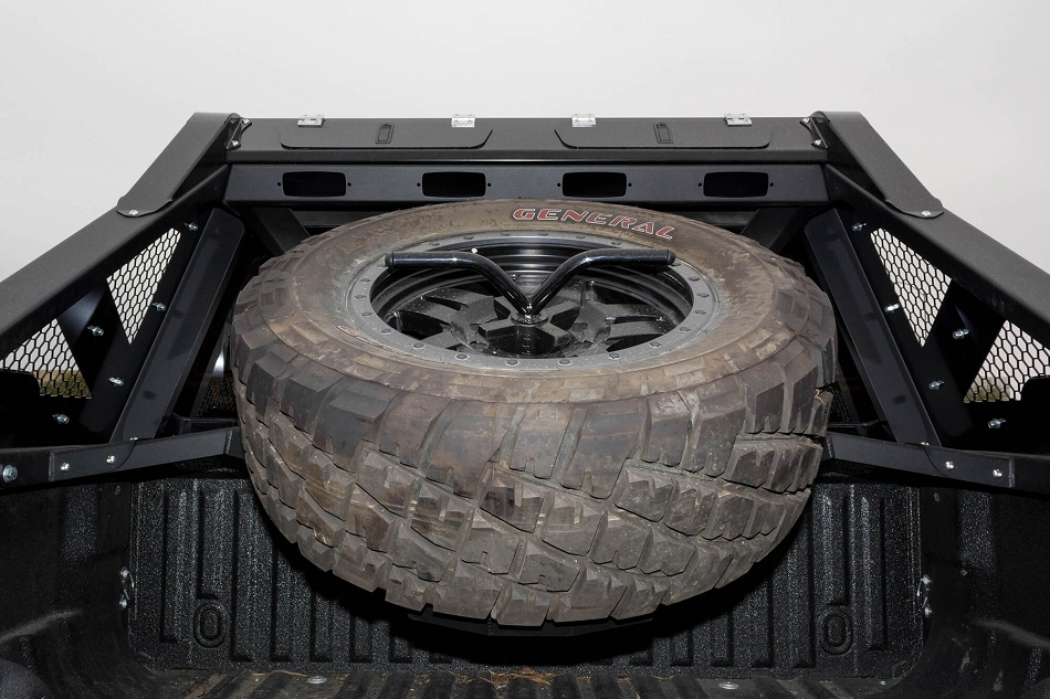 Addictive Desert Designs F-250 F-350 Honey Badger Tire Carrier Add on (1999-2016)